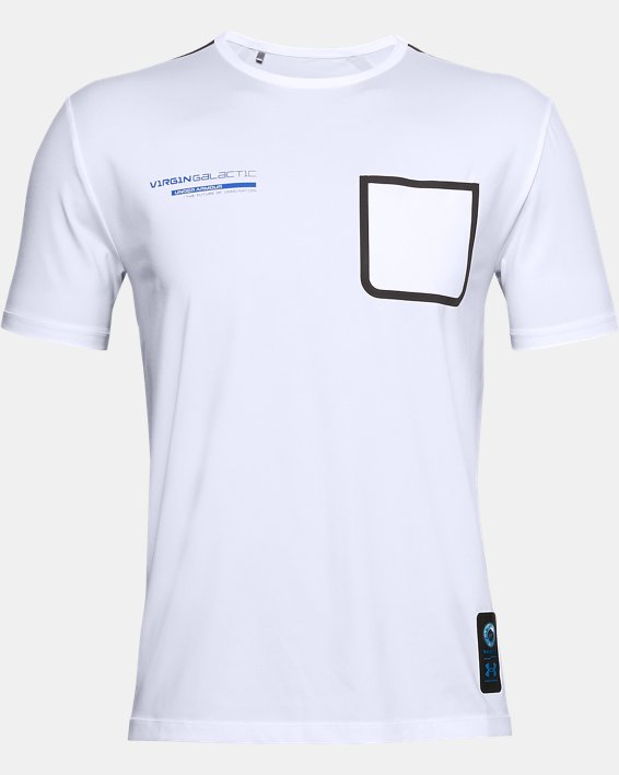 Men's UA + Virgin Galactic Pocket Short Sleeve, White, pdpMainDesktop image number 4