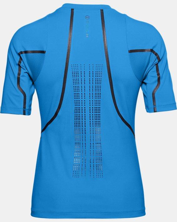 Women's UA + Virgin Galactic RUSH™ Short Sleeve, Blue, pdpMainDesktop image number 5