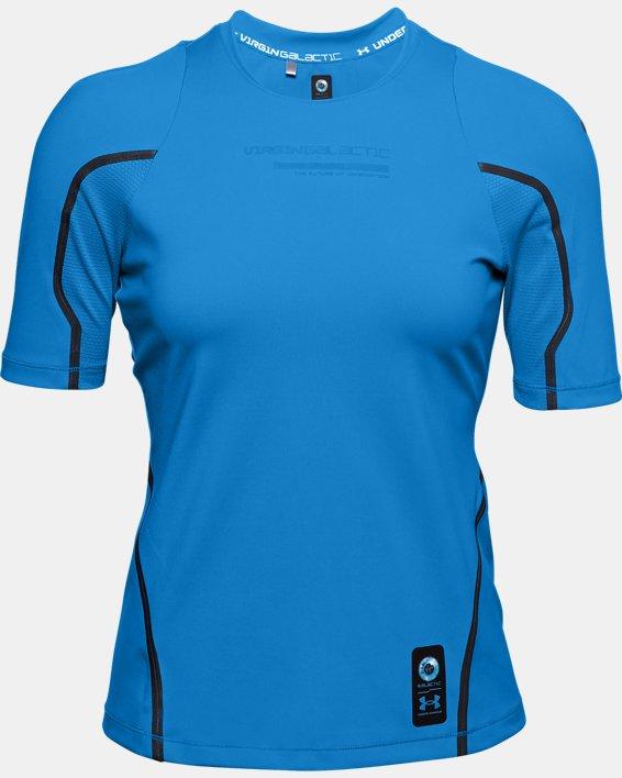 Women's UA + Virgin Galactic RUSH™ Short Sleeve, Blue, pdpMainDesktop image number 4