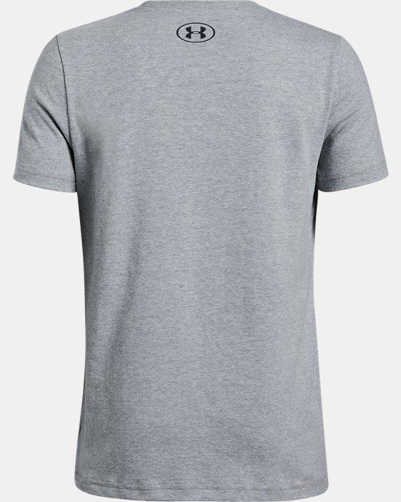 Boys' UA Neon Branded Overlay Short Sleeve, Gray, pdpMainDesktop image number 1