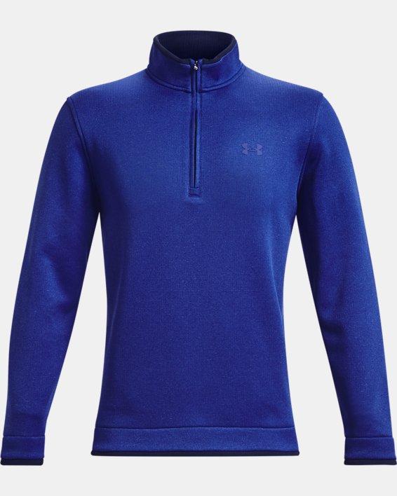 Men's UA Storm SweaterFleece ½ Zip, Blue, pdpMainDesktop image number 5