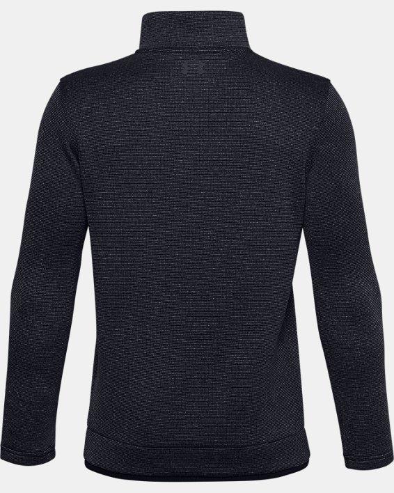 Boys' UA SweaterFleece ½ Zip, Black, pdpMainDesktop image number 1