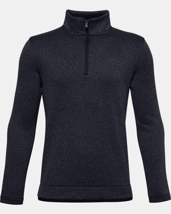 Boys' UA SweaterFleece ½ Zip, Black, pdpMainDesktop image number 0