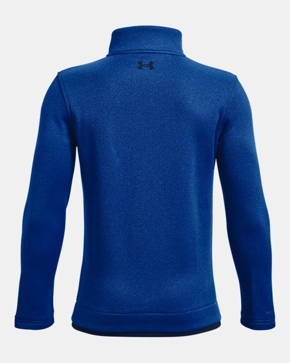 Boys' UA SweaterFleece ½ Zip, Blue, pdpMainDesktop image number 1