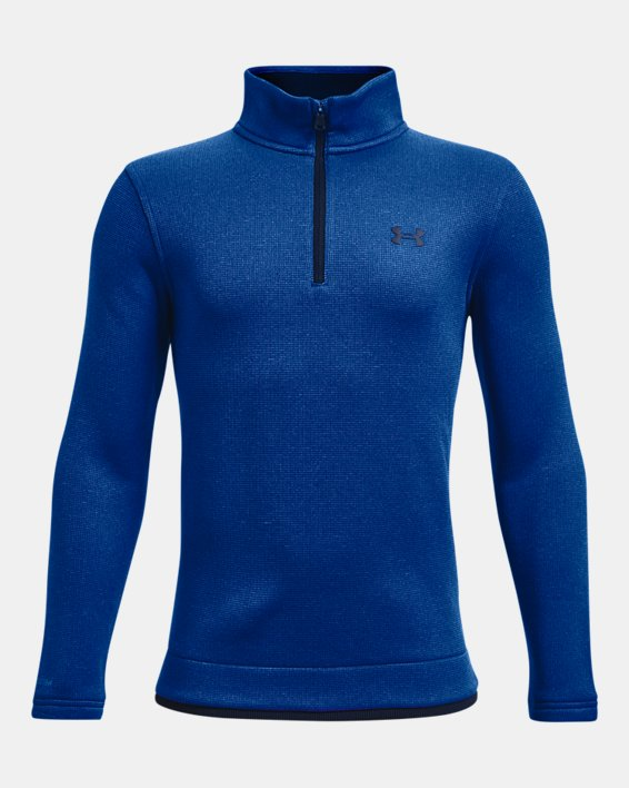 Boys' UA SweaterFleece ½ Zip, Blue, pdpMainDesktop image number 0