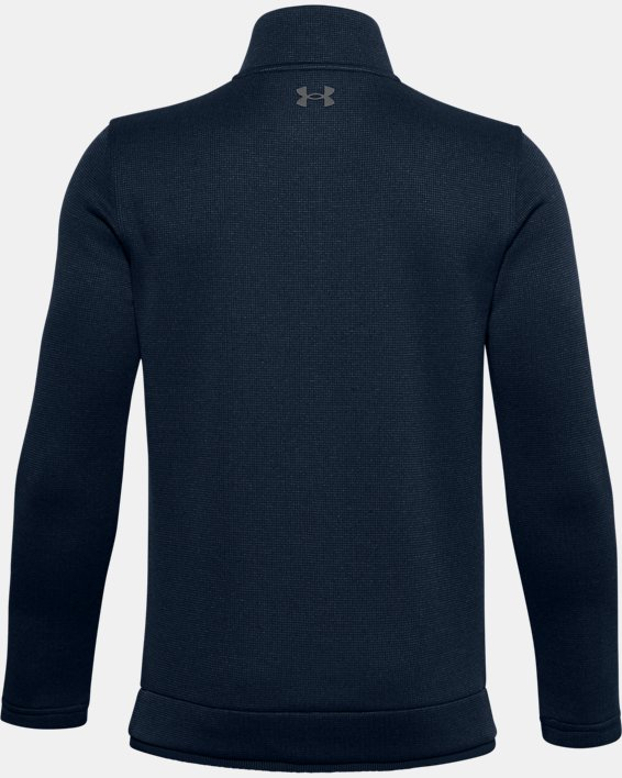 Boys' UA SweaterFleece ½ Zip, Navy, pdpMainDesktop image number 1