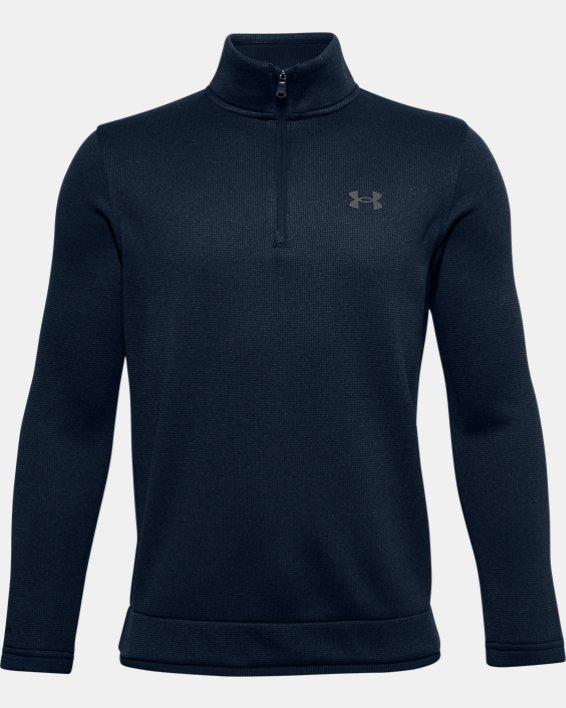 Boys' UA SweaterFleece ½ Zip, Navy, pdpMainDesktop image number 0
