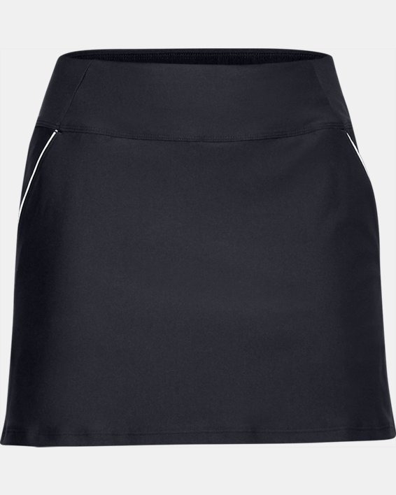 Women's UA Links Knit Skort, Black, pdpMainDesktop image number 3