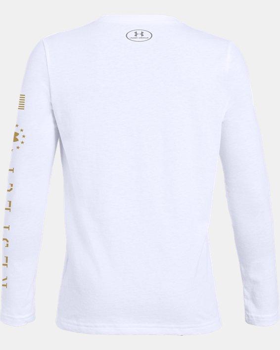 Boys' UA Freedom x Project Rock RPT Long Sleeve, White, pdpMainDesktop image number 1