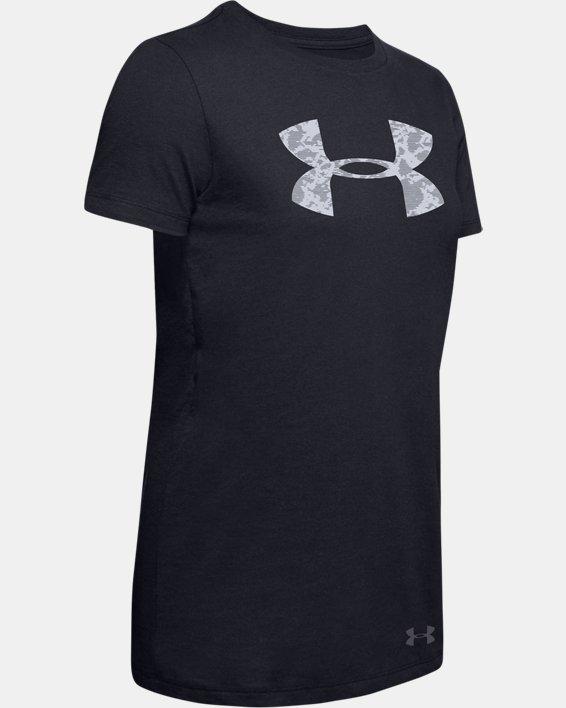 Women's UA Classic Crew Print Big Logo Short Sleeve, Black, pdpMainDesktop image number 2