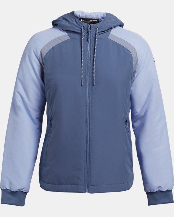 Women's UA Sky Insulate Jacket, Blue, pdpMainDesktop image number 3