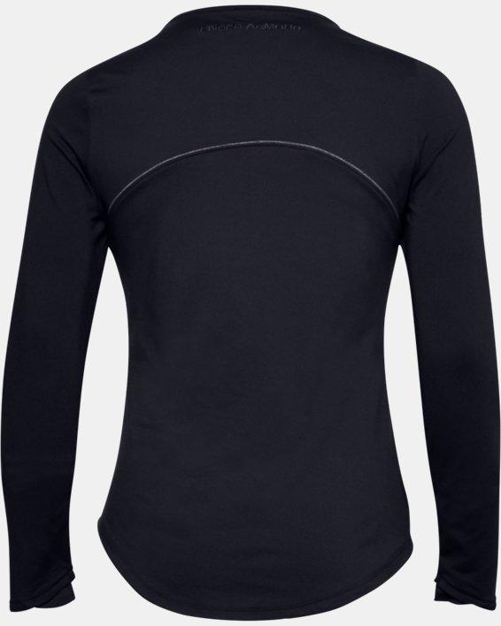 Women's UA HydraFuse Crew Long Sleeve, Black, pdpMainDesktop image number 5