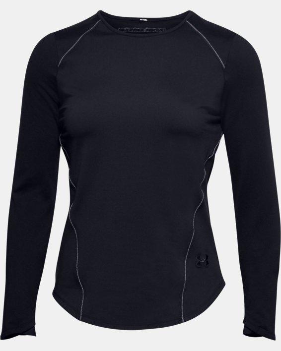 Women's UA HydraFuse Crew Long Sleeve, Black, pdpMainDesktop image number 4