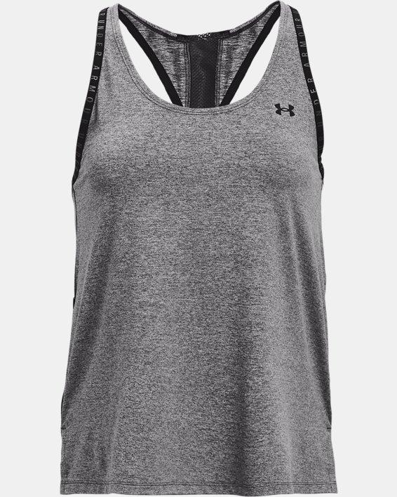Camiseta sin mangas UA Knockout Mesh para mujer, Gray, pdpMainDesktop image number 4