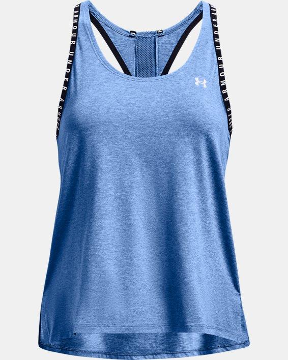 Women's UA Knockout Mesh Back Tank, Blue, pdpMainDesktop image number 3