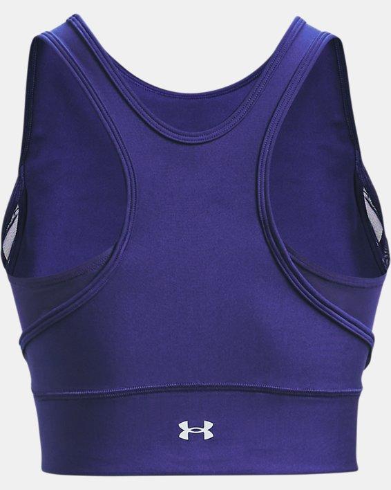 Women's HeatGear® Armour Crop Tank, Blue, pdpMainDesktop image number 4