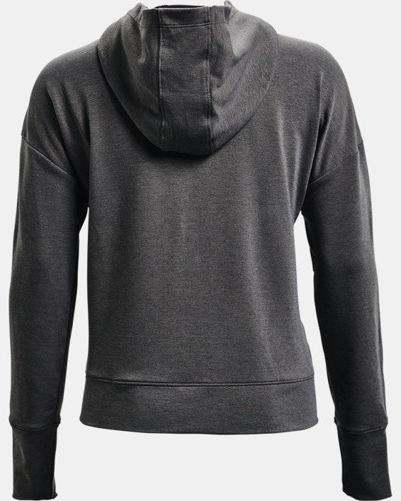 Sweat à capuche avec bande UA Rival Terry pour femme, Gray, pdpMainDesktop image number 4