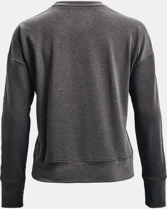 Women's UA Rival Terry Taped Crew, Gray, pdpMainDesktop image number 5
