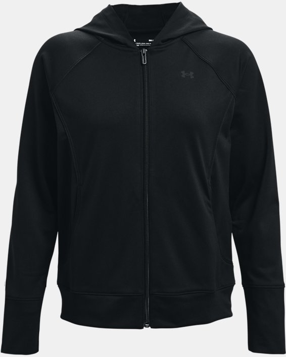 Women's UA Tricot Jacket, Black, pdpMainDesktop image number 3