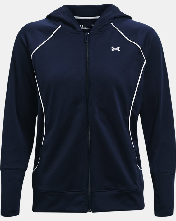 Women's UA Tricot Jacket, Navy, pdpMainDesktop image number 3