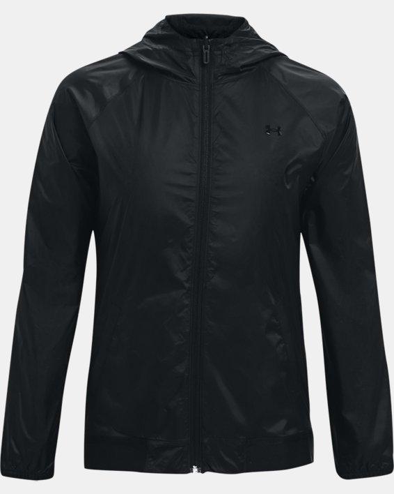 Women's UA Woven Reversible Full Zip, Black, pdpMainDesktop image number 3