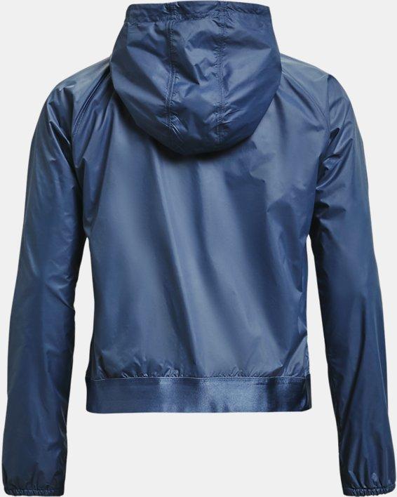 Damen UA Wendbares Oberteil aus Webstoff mit durchgehendem Zip, Blue, pdpMainDesktop image number 4