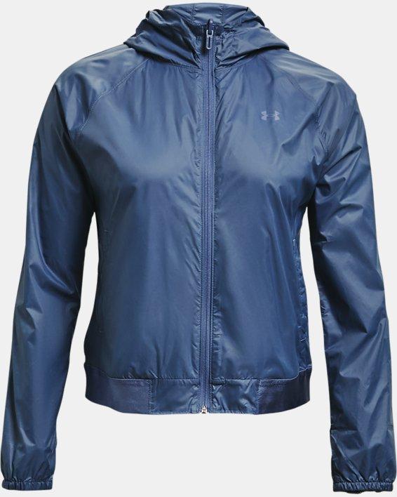 Damen UA Wendbares Oberteil aus Webstoff mit durchgehendem Zip, Blue, pdpMainDesktop image number 3