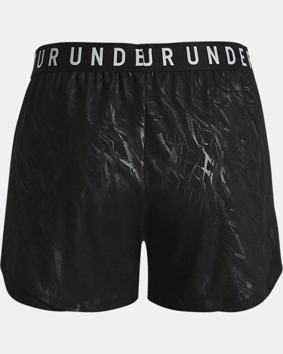 Women's UA Play Up 3.0 Emboss Shorts, Black, pdpMainDesktop image number 5