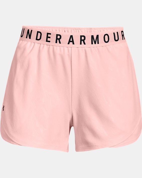 Women's UA Play Up 3.0 Emboss Shorts, Pink, pdpMainDesktop image number 4