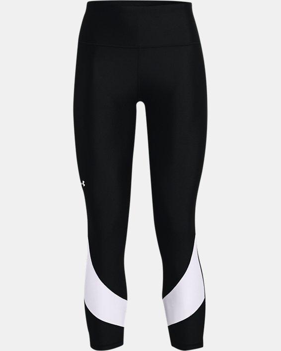 Legging longueur chevilles HeatGear® Armour No-Slip Waistband Taped pour femme, Black, pdpMainDesktop image number 4