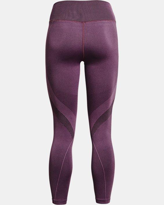 Women's UA RUSH™ Seamless Ankle Leggings, Purple, pdpMainDesktop image number 5