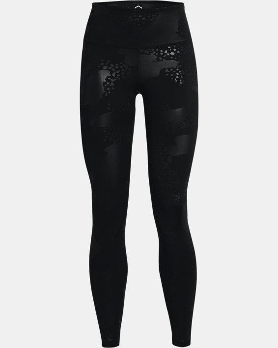Women's UA RUSH™ No-Slip Waistband Tonal Full-Length Leggings, Black, pdpMainDesktop image number 4