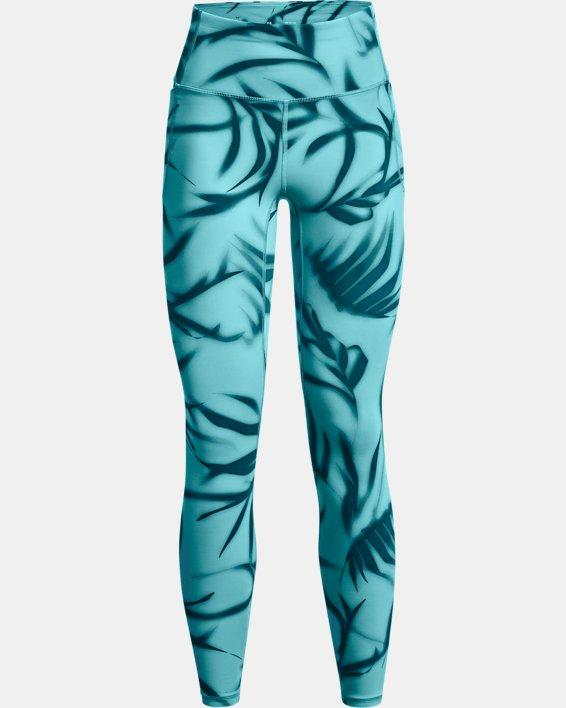 Damen UA Meridian Printed Leggings (lang), Green, pdpMainDesktop image number 4