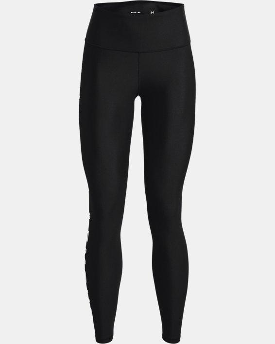 Leggings HeatGear® Armour No-Slip Waistband Branded Full-Length da donna, Black, pdpMainDesktop image number 4