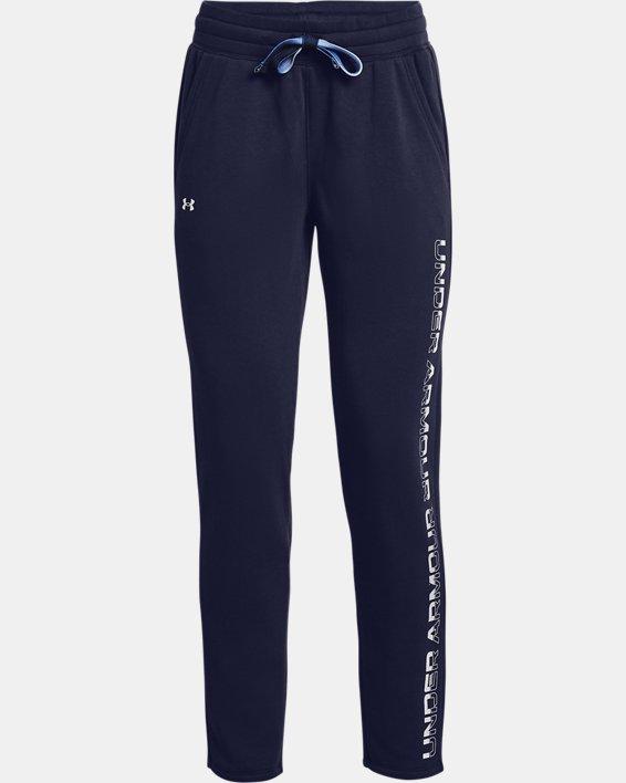 Women's UA Rival Fleece Gradient Pants, Navy, pdpMainDesktop image number 4