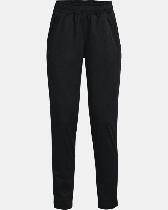 Women's UA Tricot Pants, Black, pdpMainDesktop image number 4