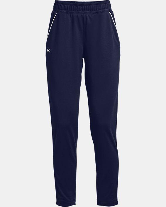 Women's UA Tricot Pants, Navy, pdpMainDesktop image number 4