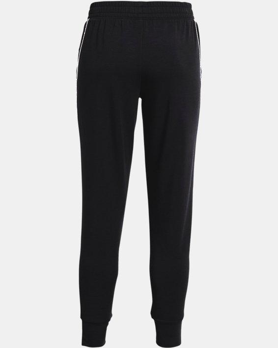 Women's UA Rival Terry Taped Pants, Black, pdpMainDesktop image number 5