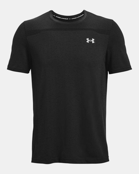 Men's UA Seamless Short Sleeve, Black, pdpMainDesktop image number 4
