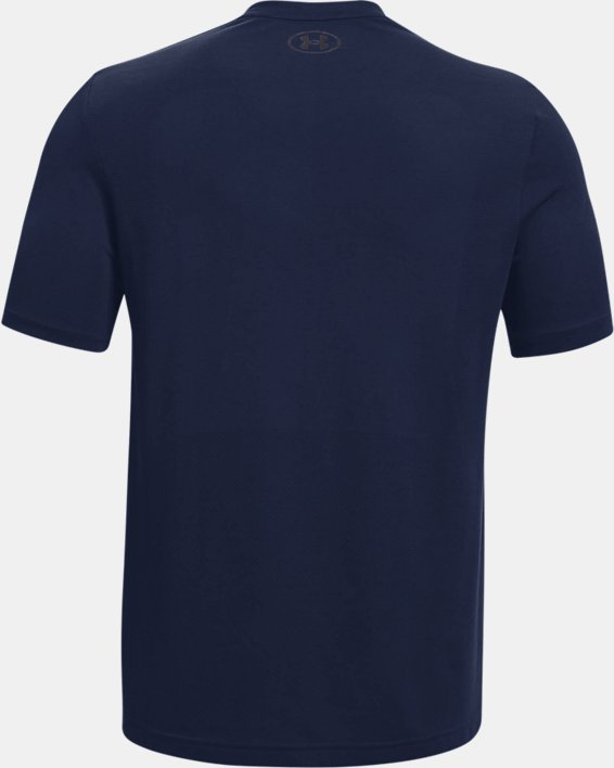 Men's UA Seamless Short Sleeve, Navy, pdpMainDesktop image number 5