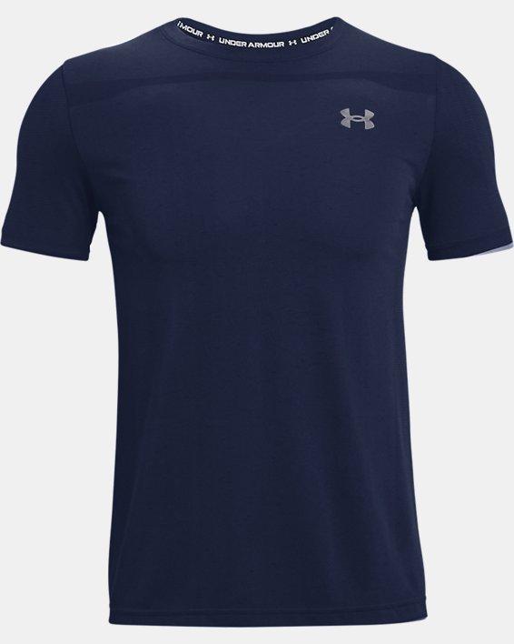 Men's UA Seamless Short Sleeve, Navy, pdpMainDesktop image number 4