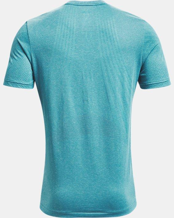 Camiseta de manga corta UA RUSH™ Seamless Strength para hombre, Blue, pdpMainDesktop image number 5