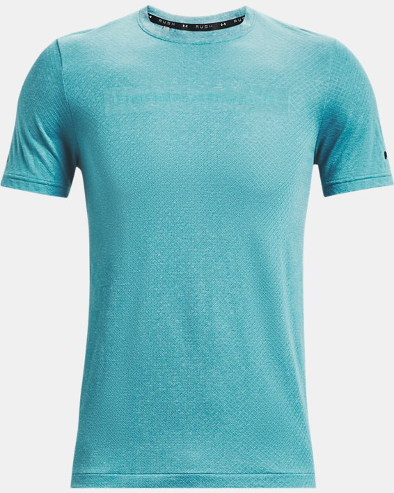 Camiseta de manga corta UA RUSH™ Seamless Strength para hombre, Blue, pdpMainDesktop image number 4