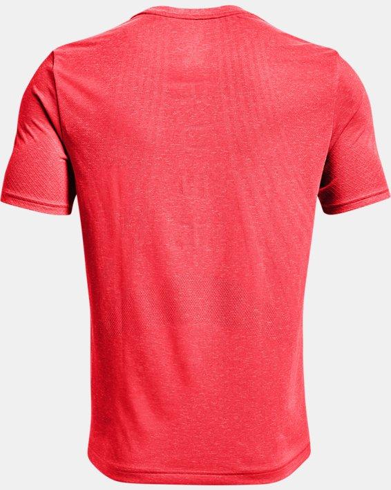 Men's UA RUSH™ Seamless Strength Short Sleeve, Red, pdpMainDesktop image number 5