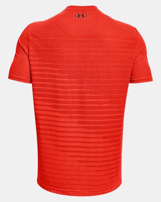 Men's UA Seamless Fade Short Sleeve, Orange, pdpMainDesktop image number 5