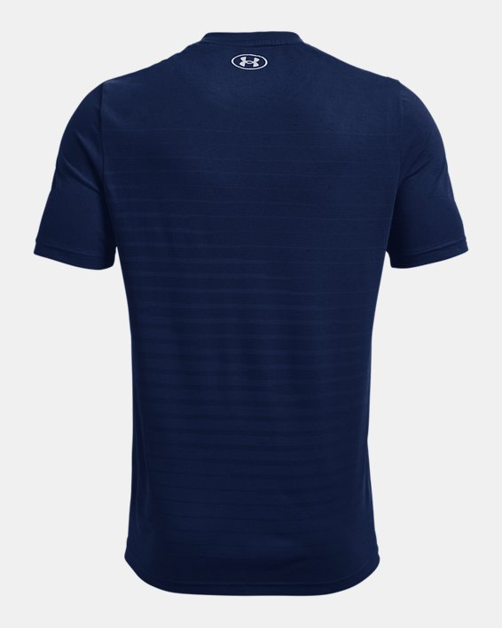 Men's UA Seamless Fade Short Sleeve, Blue, pdpMainDesktop image number 5