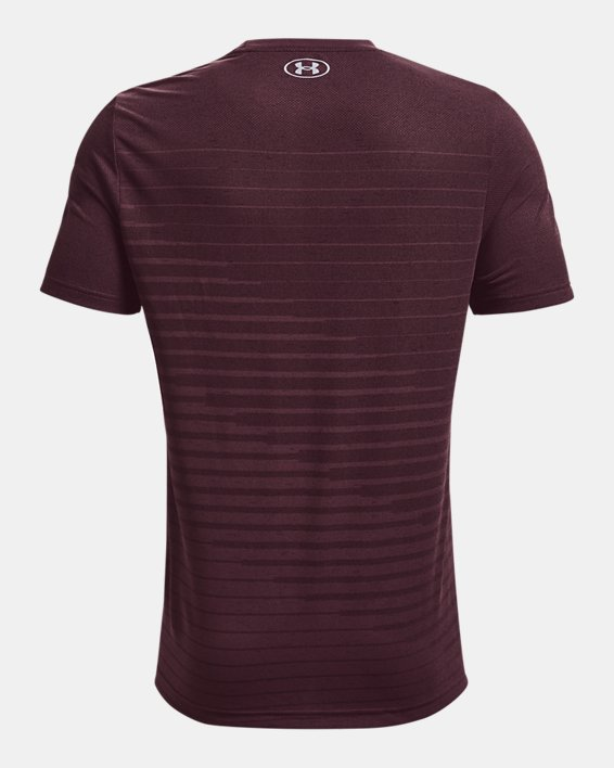 Men's UA Seamless Fade Short Sleeve, Purple, pdpMainDesktop image number 5