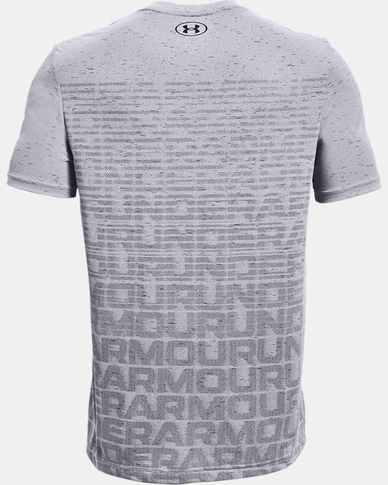 Men's UA Seamless Wordmark Short Sleeve, Gray, pdpMainDesktop image number 5