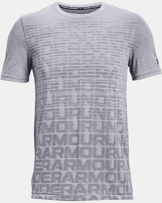 Men's UA Seamless Wordmark Short Sleeve, Gray, pdpMainDesktop image number 4
