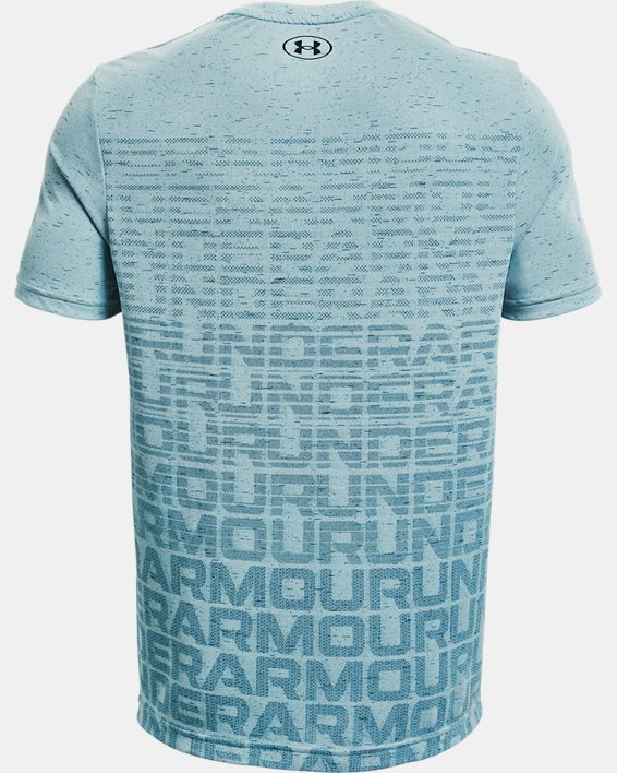 Men's UA Seamless Wordmark Short Sleeve, Blue, pdpMainDesktop image number 5